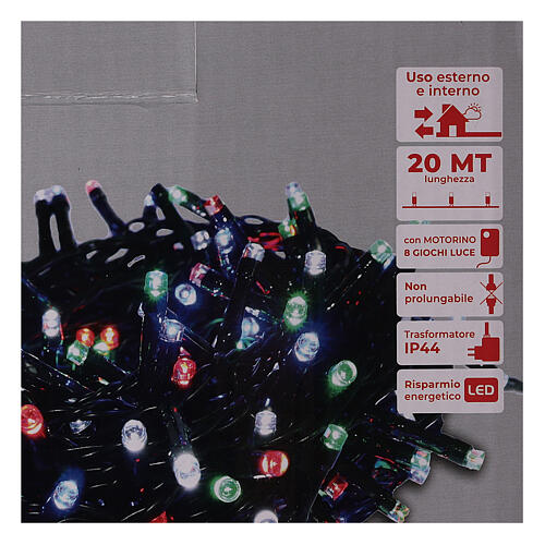Multicolor Christmas tree lights, 500 LEDs green string outdoors 220V 4
