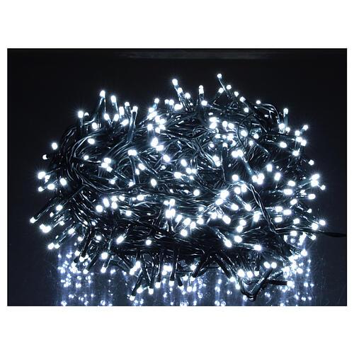 Cadena luminosa Navidad 500 led blanco frío con control remoto 2