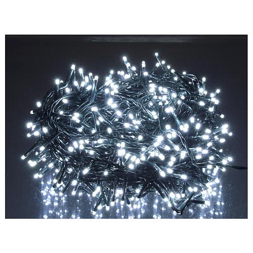 Cadena luminosa Navidad 500 led blanco frío con control remoto 1