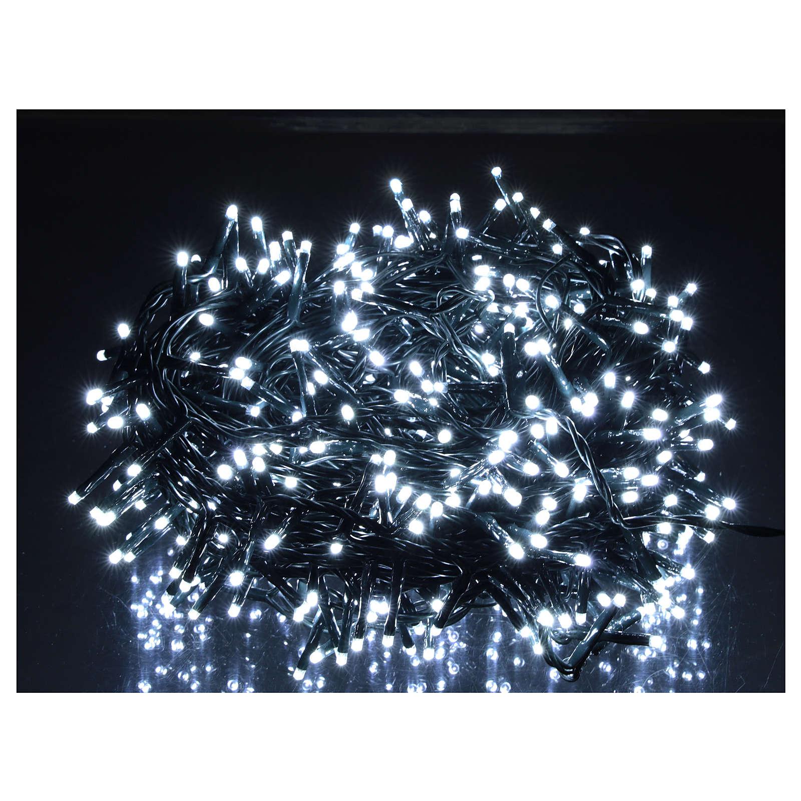Catena luminosa Natale 500 led bianco freddo telecomando esterno 220V 3