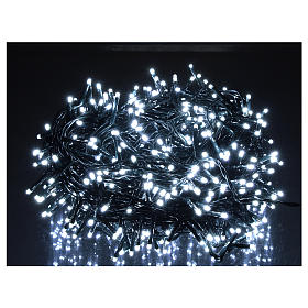 Catena luminosa Natale 500 led bianco freddo telecomando esterno 220V s2