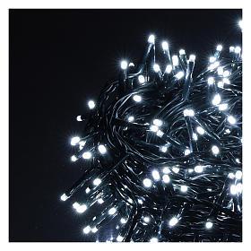 Catena luminosa Natale 500 led bianco freddo telecomando esterno 220V s3