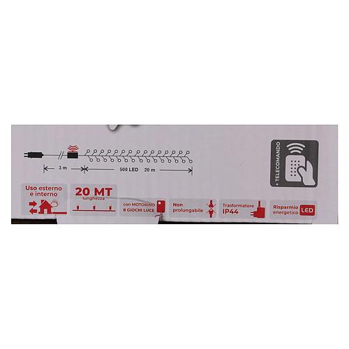Catena luminosa Natale 500 led bianco freddo telecomando esterno 220V 6