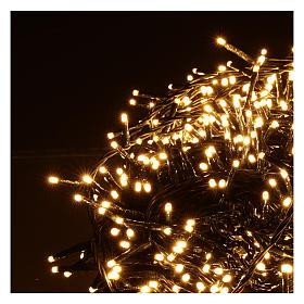 Cadena luminosa Navidad 1000 led blanco cálido control remoto exterior 220V s3