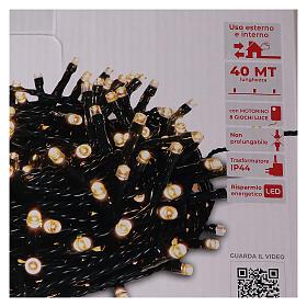 Cadena luminosa Navidad 1000 led blanco cálido control remoto exterior 220V s5