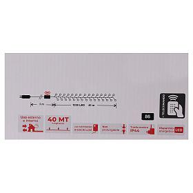 Cadena luminosa Navidad 1000 led blanco cálido control remoto exterior 220V s6