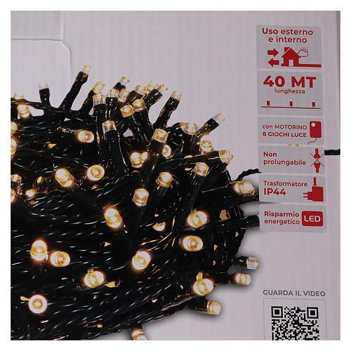 Catena luminosa Natale 1000 led bianco caldo telecomando esterno 220V 5