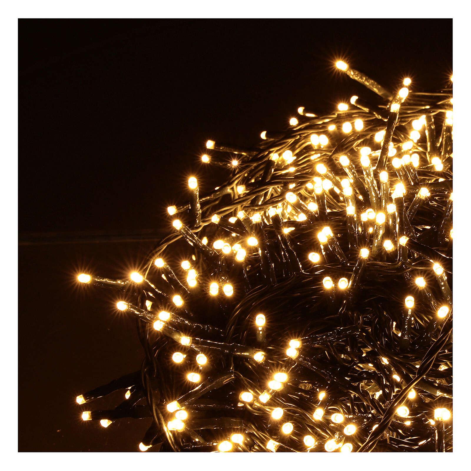 Christmas lights 1000 warm white LEDs external remote control 220V 3