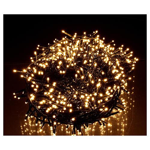 Christmas lights 1000 warm white LEDs external remote control 220V 1