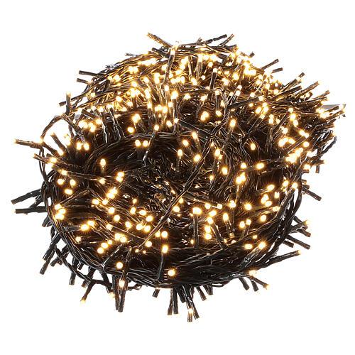 Christmas lights 1000 warm white LEDs external remote control 220V 5