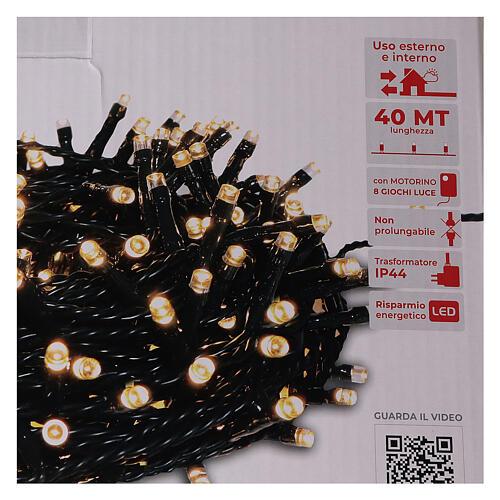 Christmas lights 1000 warm white LEDs external remote control 220V 6