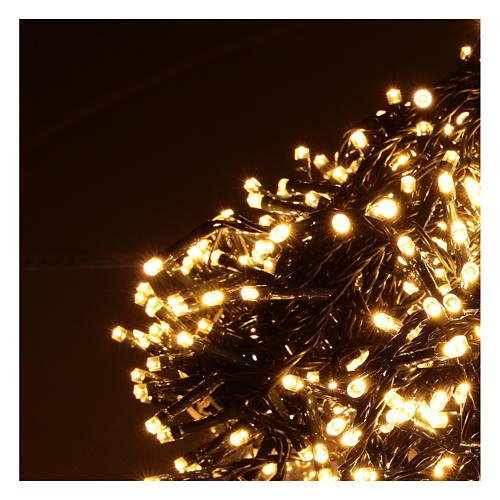 Cadena luminosa Navidad 1200 led blanco cálido exterior 220V 3
