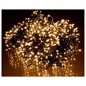 Catena luminosa Natale 1200 led bianco caldo esterno 220V s2