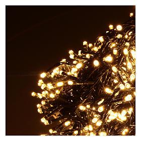 Catena luminosa Natale 1200 led bianco caldo esterno 220V s3
