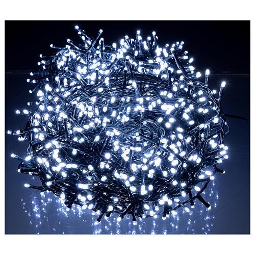 Cadena luminosa navideña 1500 led blanco frío exterior 220V 2
