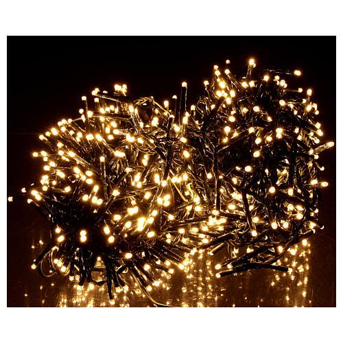 Cadena luminosa navideña verde 750 led blanco cálido para exterior 2