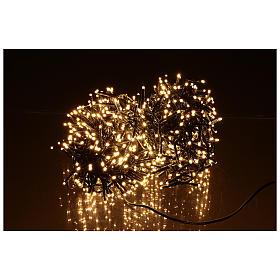 Guirlande lumineuse de Noël verte 750 LED blanc chaud pour extérieur s3