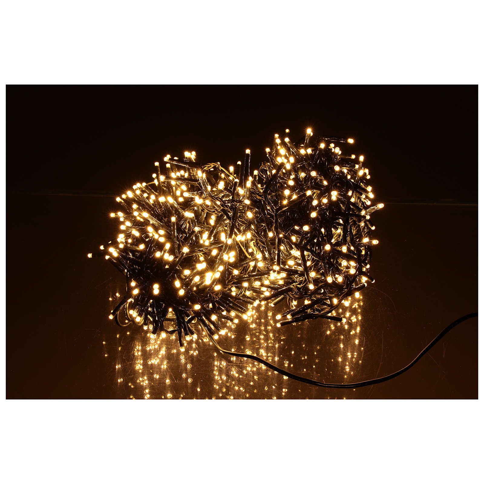 Catena Luminosa Per Foto catena luminosa natalizia verde 750 led bianco caldo 220v esterno