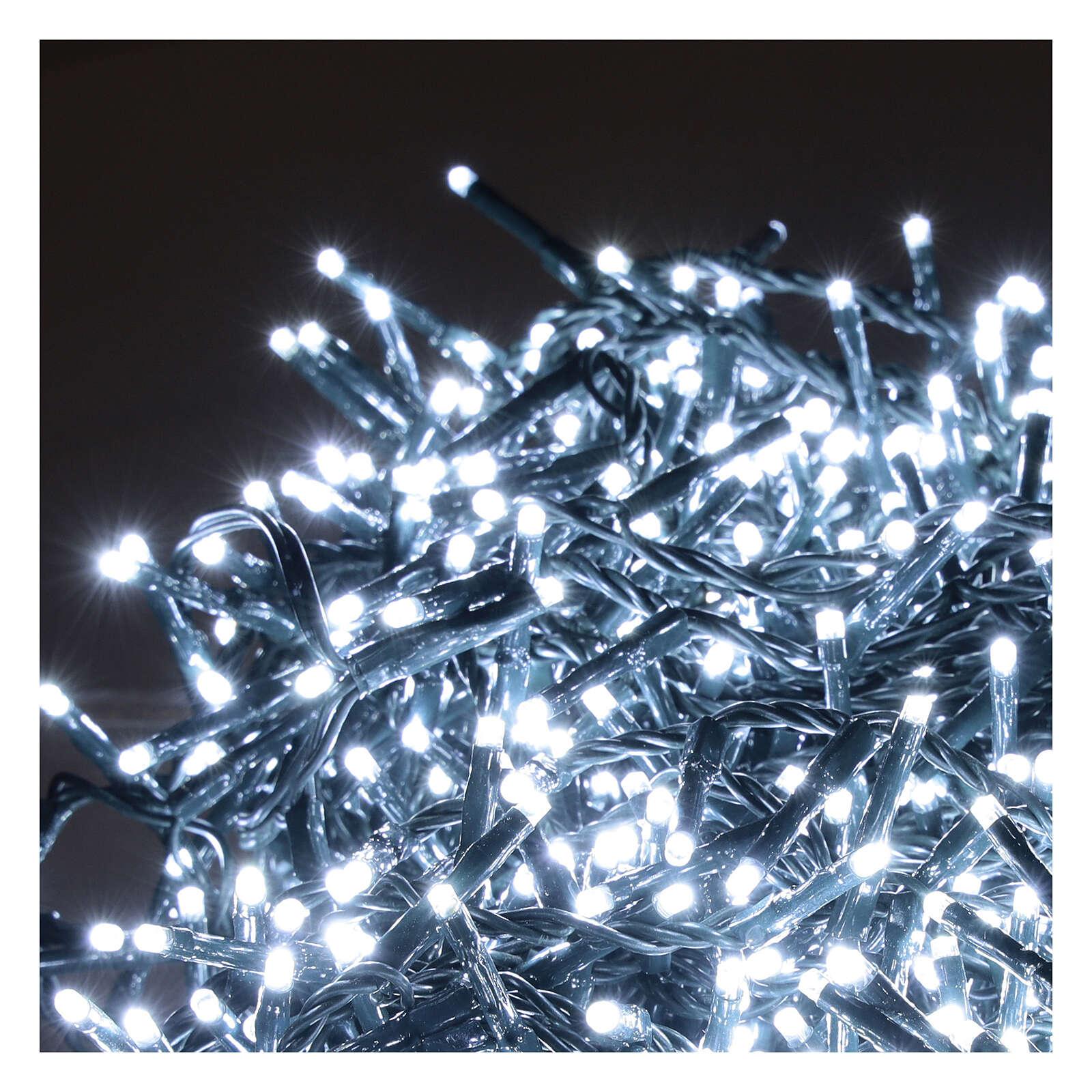 Cadena Luz Navidad verde 1200 led blanco frío exterior 24 m 220V 3