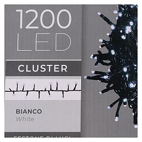 Cadena Luz Navidad verde 1200 led blanco frío exterior 24 m 220V s6