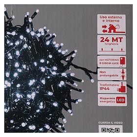 Guirlande lumineuse de Noël verte 1200 LED blanc froid pour  extérieur 24 m 220V s5