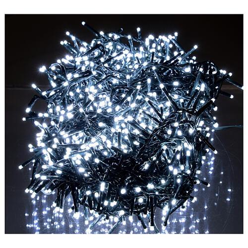 Guirlande lumineuse de Noël verte 1200 LED blanc froid pour  extérieur 24 m 220V 2