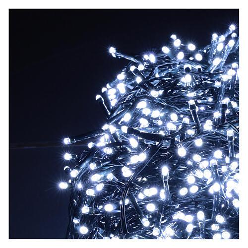 Cadena Luz Navidad verde 1200 led blanco frío 220V exterior 48 m 2