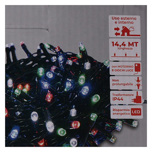 Cadena luminosa Navidad 360 led multicolor para exterior con controller 5