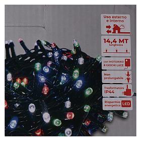 Guirlande lumineuse de Noël 360 LED multicolores pour extérieur avec boîtier s5
