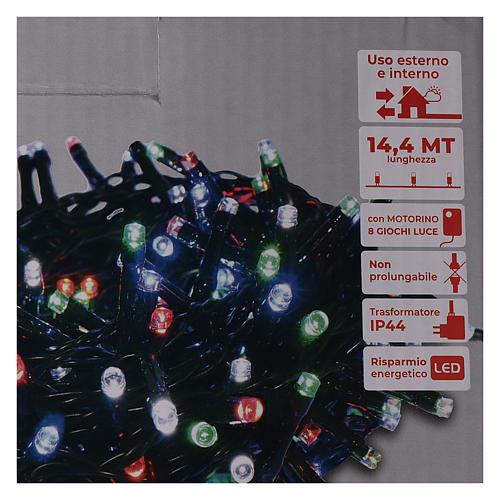 Guirlande lumineuse de Noël 360 LED multicolores pour extérieur avec boîtier 5