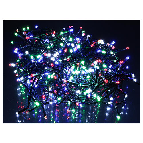 Catena luminosa Natale 360 led multicolore per esterno 220V controller 2
