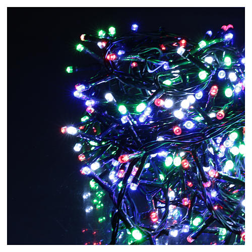 Catena luminosa Natale 360 led multicolore per esterno 220V controller 3