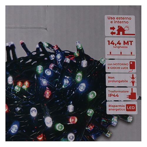 Holiday lights 360 LEDs multi color for external use with remote control 4