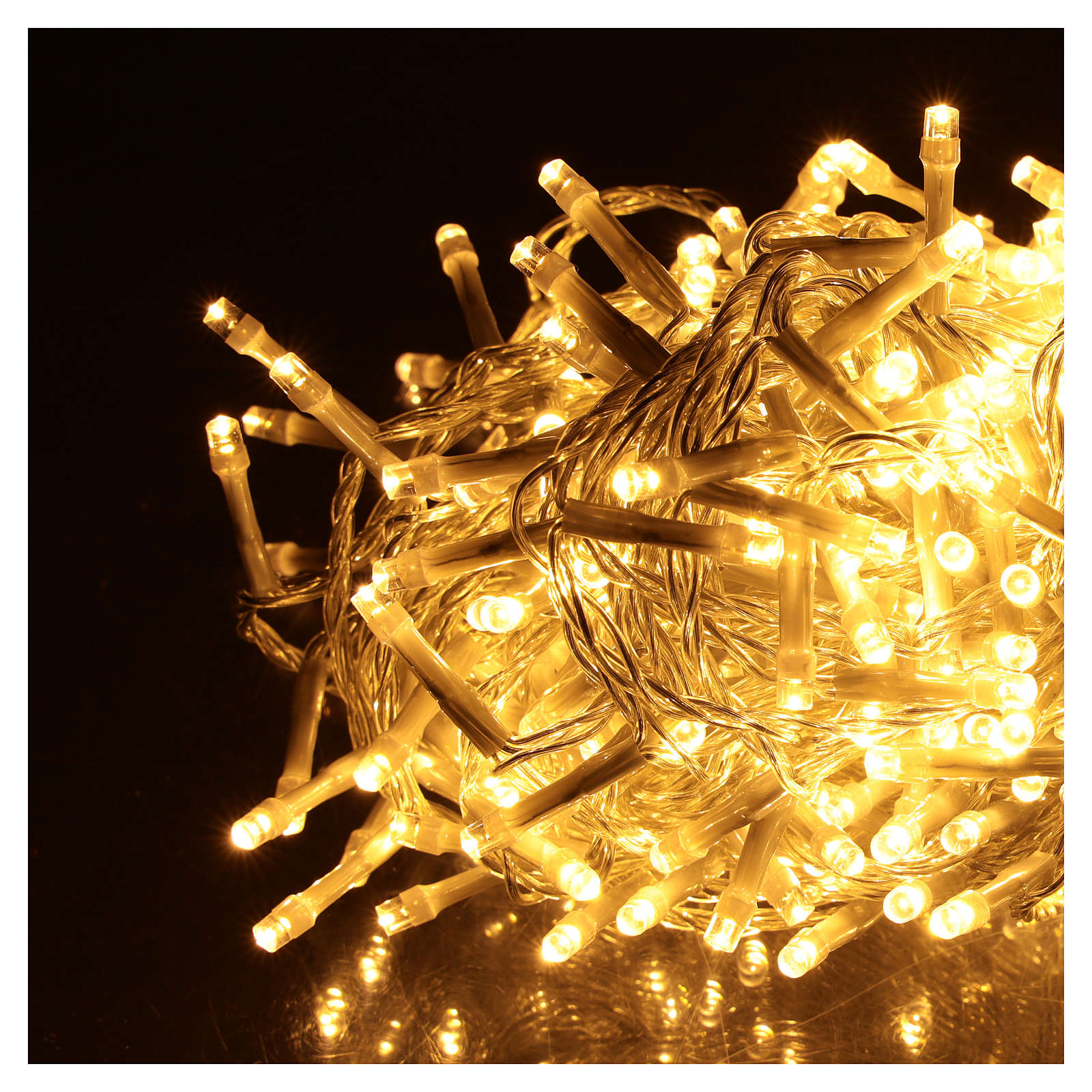 Cadena luminosa Navideña 500 led blanco cálido para exterior 3