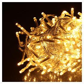 Catena luminosa Natalizia 500 led bianco caldo esterno 220V s3