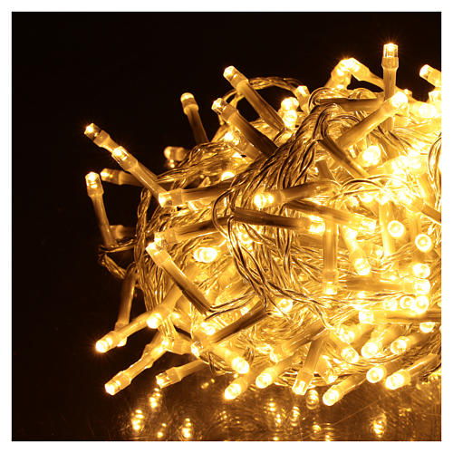 Catena luminosa Natalizia 500 led bianco caldo esterno 220V 3