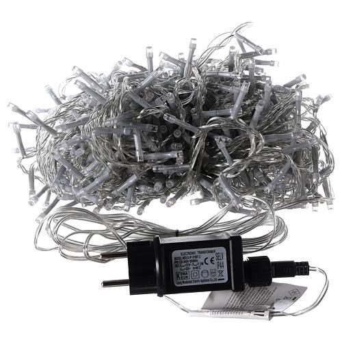 Catena luminosa Natalizia 500 led bianco caldo esterno 220V 4