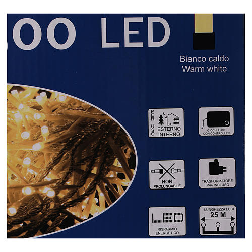 Holiday lights 500 LEDs warm white for external 5