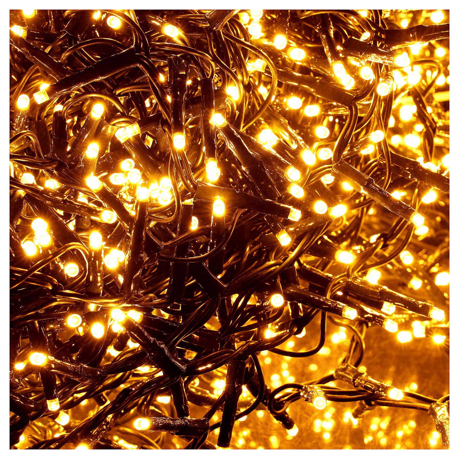 Catena Luce Natale 1800 led bianco caldo ambra telecomando esterno 220V 4