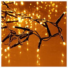 Catena Luce Natale 1800 led bianco caldo ambra telecomando esterno 220V s2