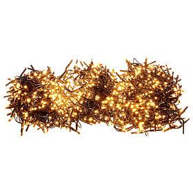 Catena Luce Natale 1800 led bianco caldo ambra telecomando esterno 220V s3