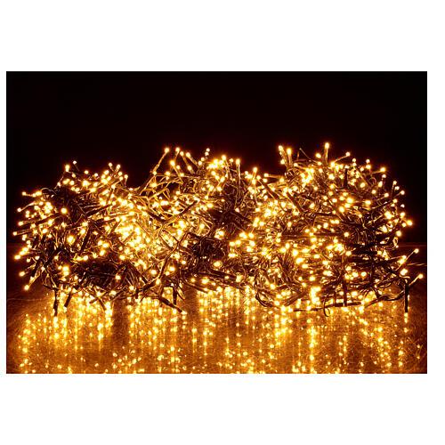 Catena Luce Natale 1800 led bianco caldo ambra telecomando esterno 220V 1