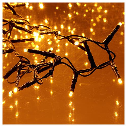 Catena Luce Natale 1800 led bianco caldo ambra telecomando esterno 220V 2