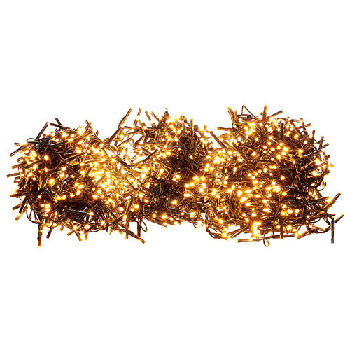 Catena Luce Natale 1800 led bianco caldo ambra telecomando esterno 220V 3
