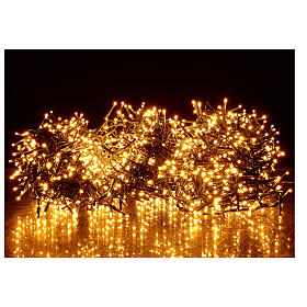 Christams lights, 1800 LED amber warm white remote control for outdoors 220V s1