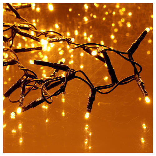 Christams lights, 1800 LED amber warm white remote control for outdoors 220V 2