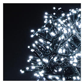 Guirlande lumineuse de Noël verte 750 LED blanc froid avec boîtier s3