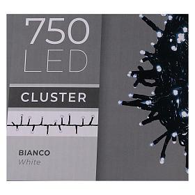 Guirlande lumineuse de Noël verte 750 LED blanc froid avec boîtier s5