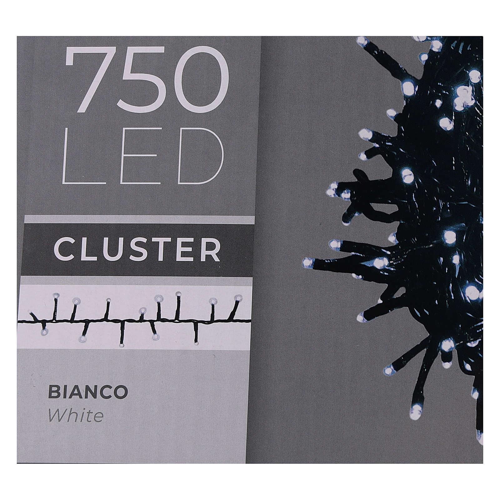 Catena luce Natale verde 750 led bianco freddo 220V esterno controller 3