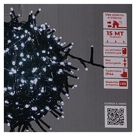 Catena luce Natale verde 750 led bianco freddo 220V esterno controller s6